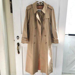 WOMEN'S Evan-Picone Long Trench Coat SIZE 14